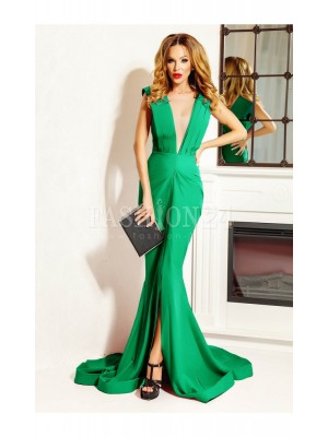 Rochie verde tip sirena Charmy