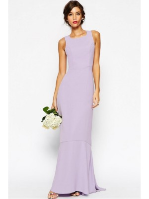 Rochie lunga eleganta mov-light Purple